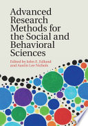 Advanced Research Methods For The Social And Behavioral Sciences Book PDF