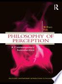 Philosophy of Perception