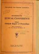 Pdf Annual Conference of the Queensland Cane Growers' Association