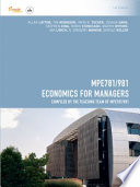MPE781/981 Economics for Managers for Deakin University