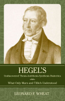 Hegel S Undiscovered Thesis Antithesis Synthesis Dialectics