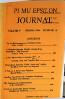 Pi Mu Epsilon Journal