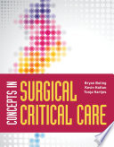 Concepts In Surgical Critical Care Book PDF