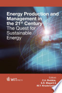 Energy Production And Management In The 21st Century Book PDF