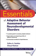 Essentials of Adaptive Behavior Assessment of Neurodevelopmental Disorders