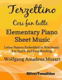 Terzettino Cosi Fan Tutte Elementary Piano Sheet Music