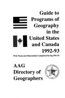 Guide to Graduate Departments of Geography in the United States and Canada