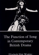 The Function of Song in Contemporary British Drama Pdf/ePub eBook