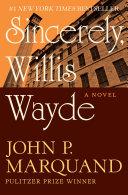 Sincerely, Willis Wayde Pdf/ePub eBook
