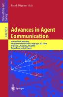 Advances in Agent Communication