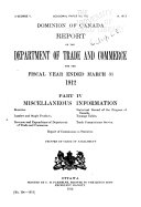 Report of the Department of Trade and Commerce for the Fiscal Year Ended ...