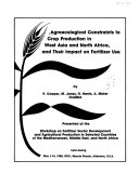 Agroecological Constraints to Crop Production in West Asia and North Africa, and Their Impact on Fertilizer Use