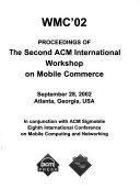 Proceedings of the     ACM International Workshop on Mobile Commerce