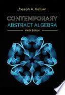 Contemporary Abstract Algebra + Student Solutions Manual