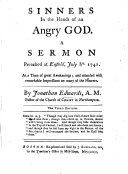 Sinners in the hands of an angry God  A sermon  on Deut  xxxii  35      Third edition