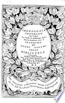 Cronologia universale  che facilita lo studio di qualumque storia  e particolarmente serve di prodromo alli XXXXV  volumi della Biblioteca  etc   With engravings