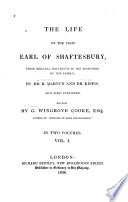 The Life of the First Earl of Shaftesbury