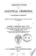 Skeleton Notes on Analytical Chemistry