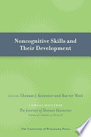 Noncognitive Skills and Their Development Book PDF