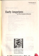 Early Imprints In New Zealand Libraries