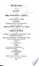 Memoirs of the life of Mrs. Elizabeth Carter
