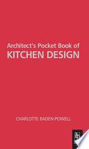 Architect s Pocket Book of Kitchen Design