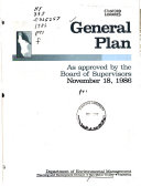 General Plan Overview Background Issues Ch 1 10