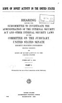 Scope of Soviet Activity in the United States