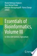 Essentials of Bioinformatics  Volume III Book