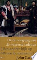 De Teloorgang Van De Westerse Cultuur Druk 1