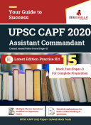 UPSC CAPF  Assistant Commandant  2020   15 Mock Test