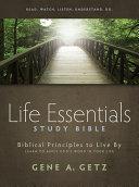 Life Essentials Study Bible Pdf/ePub eBook