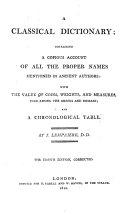 A Classical Dictionary ebook