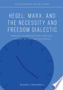 Hegel  Marx  and the Necessity and Freedom Dialectic