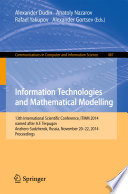 Information Technologies And Mathematical Modelling