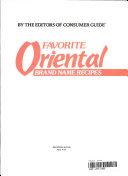 Favorite Oriental Brand Name Recipes