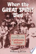 When the Great Spirit Died Book