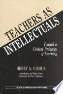 Teachers as Intellectuals