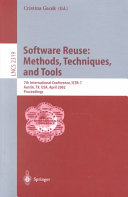Software Reuse  Methods  Techniques  and Tools Book