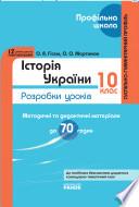 Історія України. 10 клас: Розробки уроків