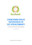 Strengthening Popular Participation in the East African Community