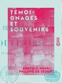 Pdf Témoignages et Souvenirs Telecharger