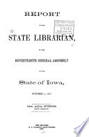 Report of the State Librarian to the ... General Assembly