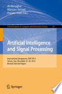 Artificial Intelligence and Signal Processing