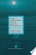 Pond Aquaculture Water Quality Management Book PDF