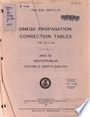 Omega Propagation Correction Tables for 10 2 KHz