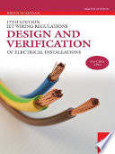 17th edition iee wiring regulations design and verification of iet wiring regulations design and verification of electrical installations brian scaddan limited preview 2012 keyboard keysfo Images