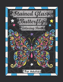 Stained Glass Butterfly Coloring Book For Adults