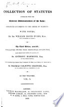 A Collection of Statutes Connected with the General Administration of the Law