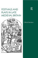 Festivals and Plays in Late Medieval Britain [Pdf/ePub] eBook